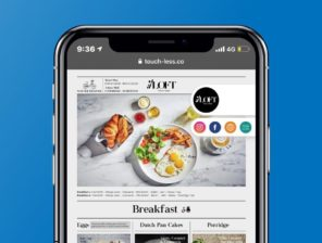Touc-Less يحل مشكلات العدوى باللمس في المطاعم والمتاجر