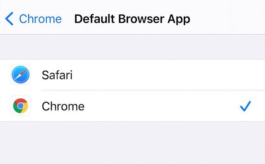 Change Default Browser App in iOS 14